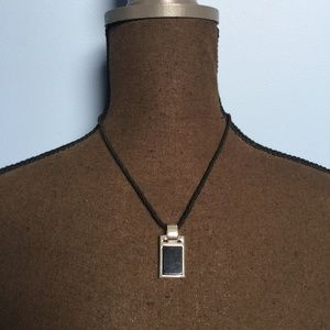 Lia Sophia Rectangle Pendant Necklace